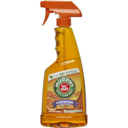 - (2 pack) Murphy's Oil Soap Spray Wood Cleaner, Orange - 22 fl oz