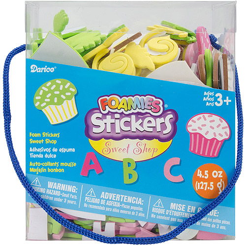 Darice Foam Stickers, 4.5 oz, Sweet Shop