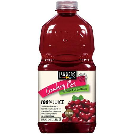 Langers Cranberry Plus 100% Juice, 64 fl oz ()