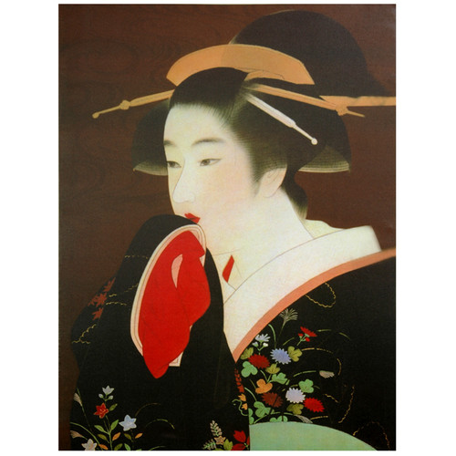 Oriental Furniture Geisha Painting Print on Wrapped Canvas