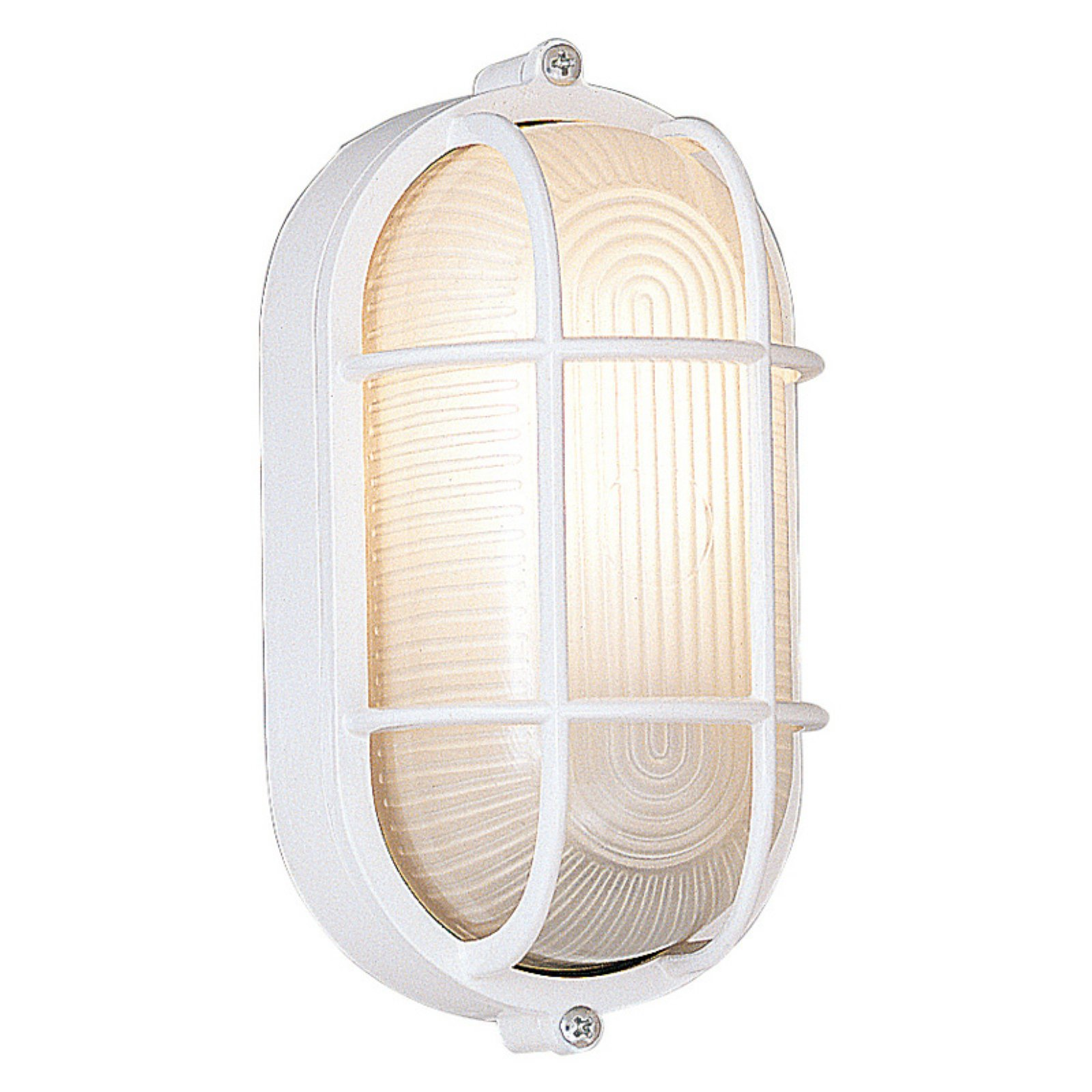Designers Fountain Outdoor 2071-WH Oval Bulkhead with Guard by Designer's Fountain