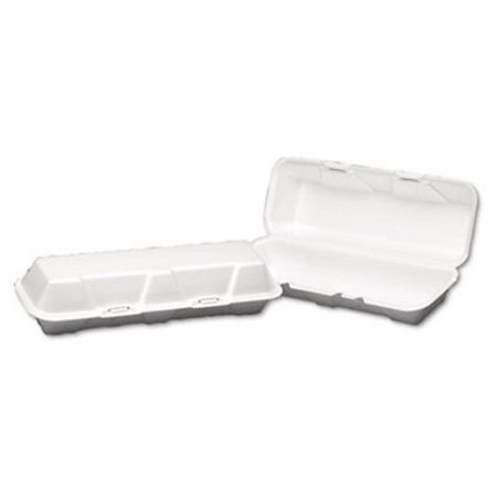 Genpak Foam Hinged Hoagie Container, X-Large, White, 200 (Hoagie Foam)