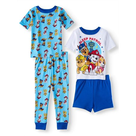 Paw Patrol Cotton tight fit pajamas, 4pc set (toddler - Toddler Boys Pjs