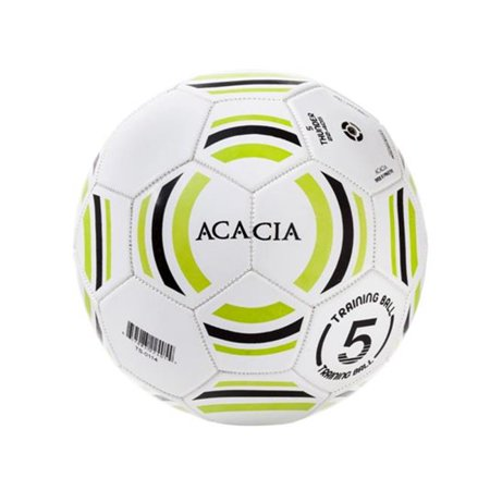 Image of Acacia STYLE -22-505 Thunder Soccer Balls - White and Lime, 5