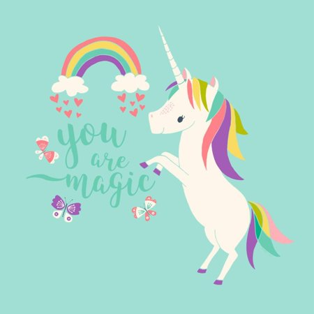 You are Magic - Rainbow and Unicorn Print Wall Art By Heather Rosas