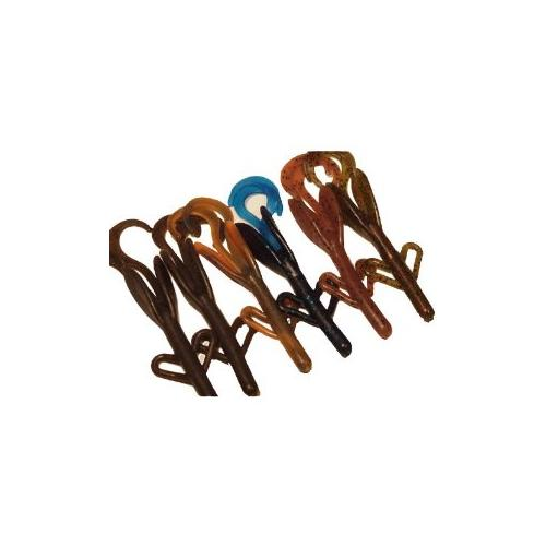 Tightlines UV Hog Bass Tackle (Pack of 6), Assorted, 4-Inch Multi-Colored