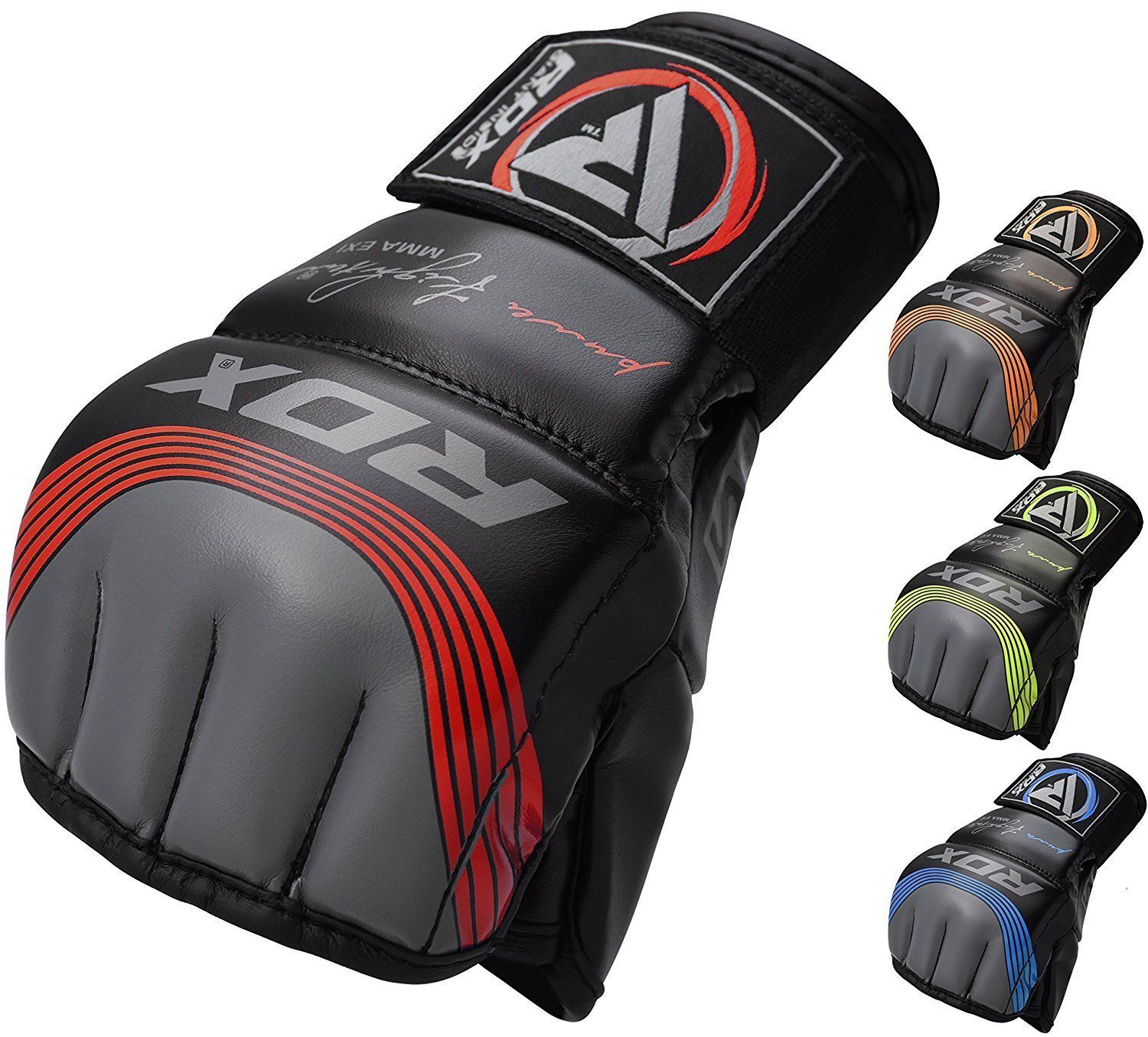 RDX MMA Grappling Gloves Boxing Wrist Wraps Punch Fight Muay Thai Kick Sparring