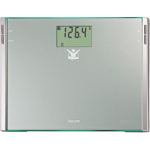 Biggest Loser 75444102BL CalMax Glass Electronic Digital Bath Scale