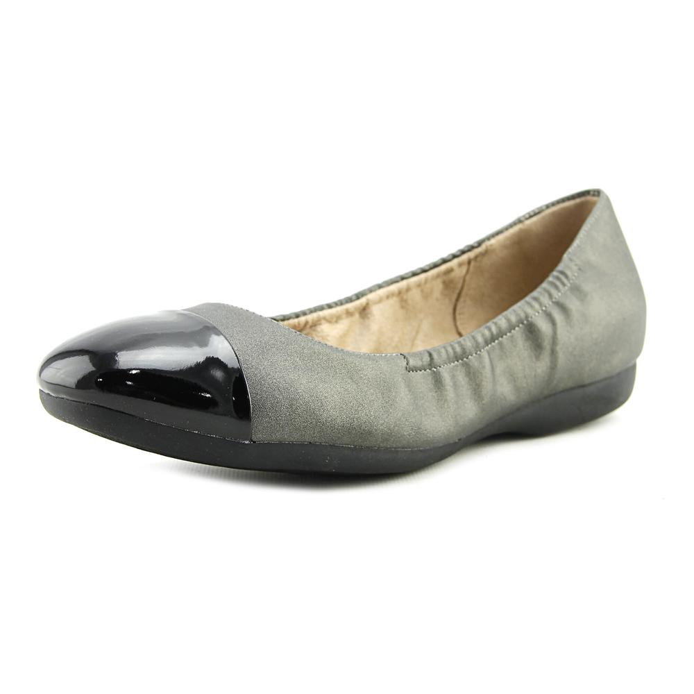 Naturalizer Campo Women Round Toe Synthetic Gray Flats by Naturalizer