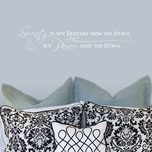 Fireside Home Serenity is Not Freedom From the Storm, But Peace Amid the Storm Wall Decal