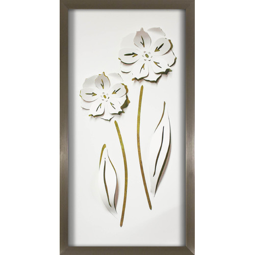 Pinnacle 12x24 Long Flower Duo Pop of Color Framed Art