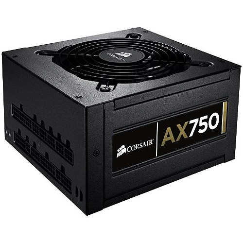 Corsair Professional Series Gold AX750 - Power supply (internal) - ATX12V 2.31/ EPS12V 2.92 - 80 PLUS Gold - AC 90-264 V - 750 Watt - active PFC - United States