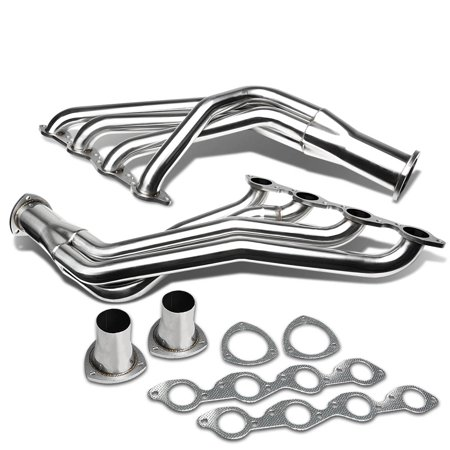 Chevy Big Block Long Tube V8 4-1 Design 2-PC Stainless Steel Exhaust Header - 396 402 427 -
