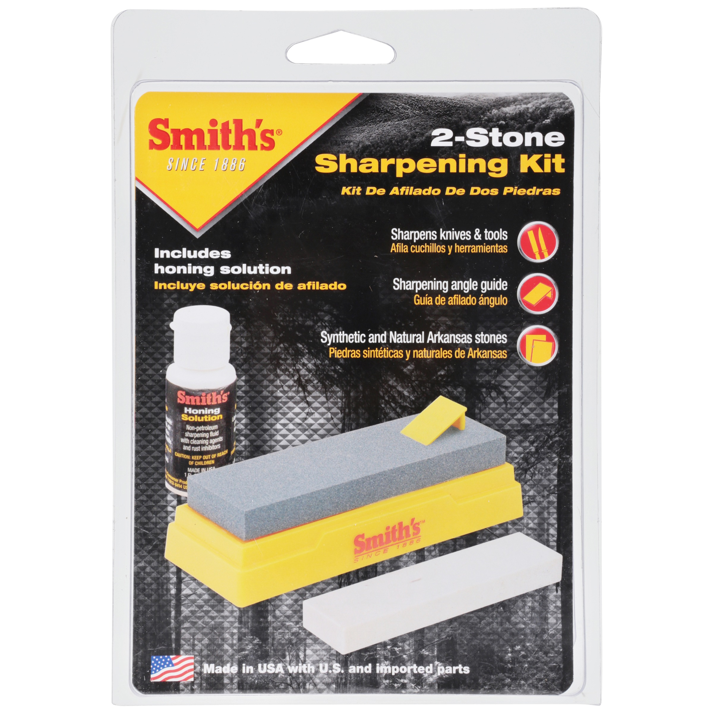 Smith's® 2-Stone Sharpening Kit 4 pc Pack, SK2