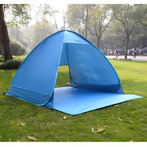 Outdoor Deluxe Beach Tent Automatic Pop Up Quick Portable Uv Sun