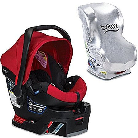 Britax B Safe 35 Infant Car Seat With Sun Shield Red