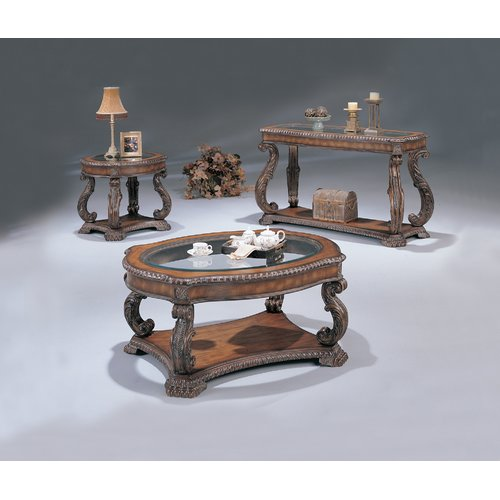 Astoria Grand Franky Serpentine End Table with Storage