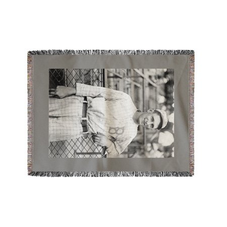 Ivan Olson, Brooklyn Robins (Dodgers), Baseball Photo (60x80 Woven Chenille Yarn Blanket)