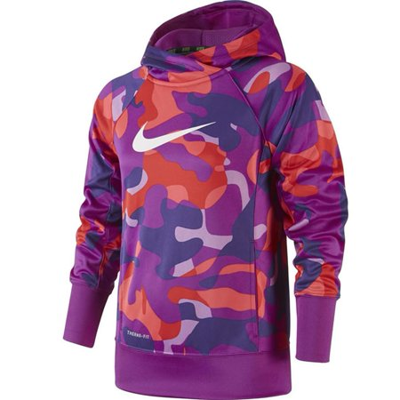 316d80742108 Nike Big Girls  (7-16) Therma-Fit KO 3.0 Allover Print Pullover ...