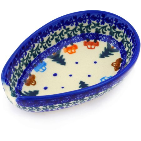Polish Pottery 5-inch Spoon Rest (Holiday Drive Theme) Hand Painted in Boleslawiec, Poland + Certificate of Authenticity](Pottery Barn Halloween Sale)