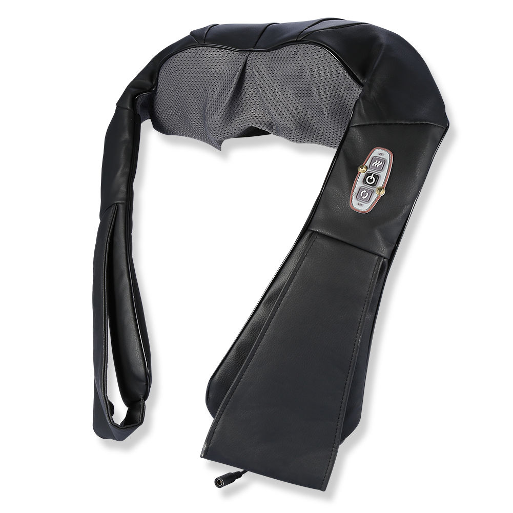 TMISHION Electric Shoulder Neck Shawl Massager By Heat Shiatsu Kneading For Health Care(Black)