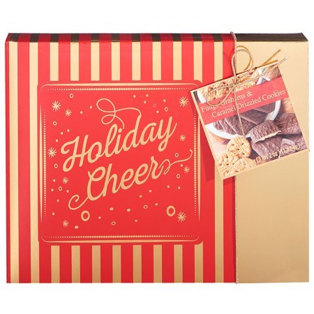 Holiday Fudge - Holiday Cookies, Fudge Graham and Caramel Drizzled Shortbread, 50 Oz, Merry
