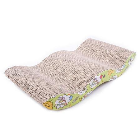 Pet Cat Scratching Corrugated Board M-shape Scratcher Pole Bed Pad Mat (Scratch Pole)