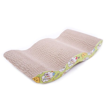 Pet Cat Scratching Corrugated Board M-shape Scratcher Pole Bed Pad Mat Toy - image 1 of 1