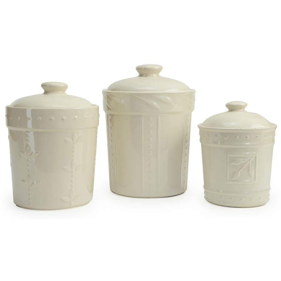 unique kitchen canisters signature housewares 70416 sorrento canisters with ivory 15275
