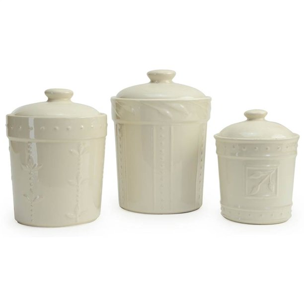 Signature Housewares 70416 Sorrento Canisters with Ivory - Set of 3