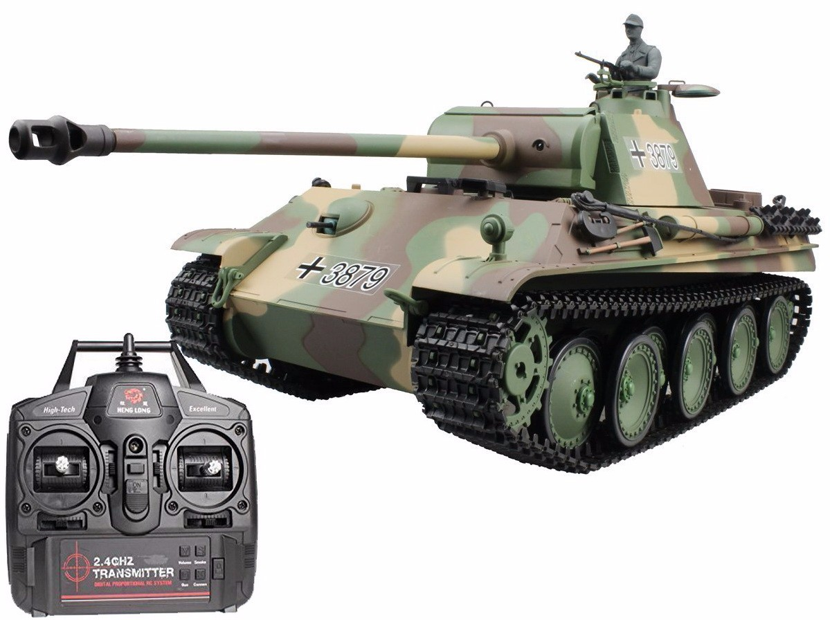 2.4Ghz Radio Control 1 16 German Panther Type G Airsoft Battle Tank w Sound & Smoke RC RTR by