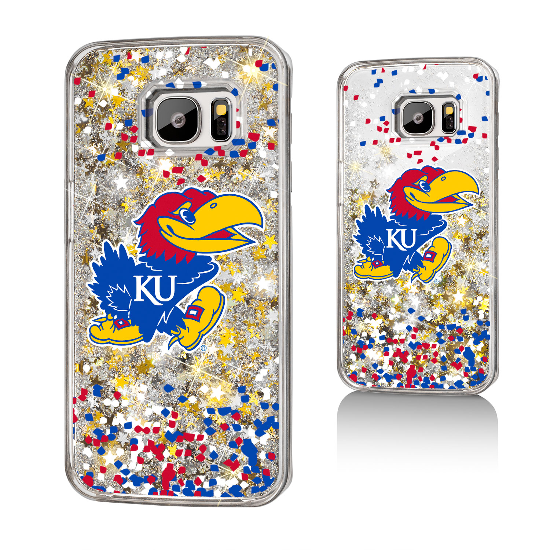KU Kansas Jayhawks Confetti Glitter Case for Galaxy S7