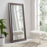 "Framed Bevel Floor Mirror Espresso 66"" x 32"" by Naomi Home"
