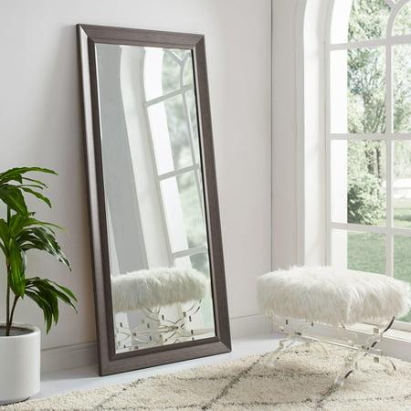 Framed Bevel Floor Mirror Espresso 66