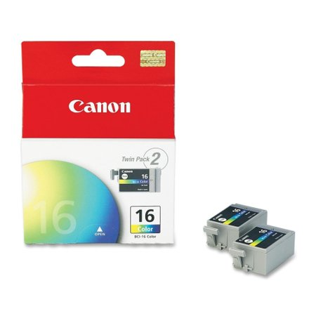 Canon BCI-16- 2-pack Color Ink Tank Canon BCI-16 Color Ink Cartridge - Color - Inkjet - 75 Page - 2 / Pack Canon Bci 16 Ink Tank