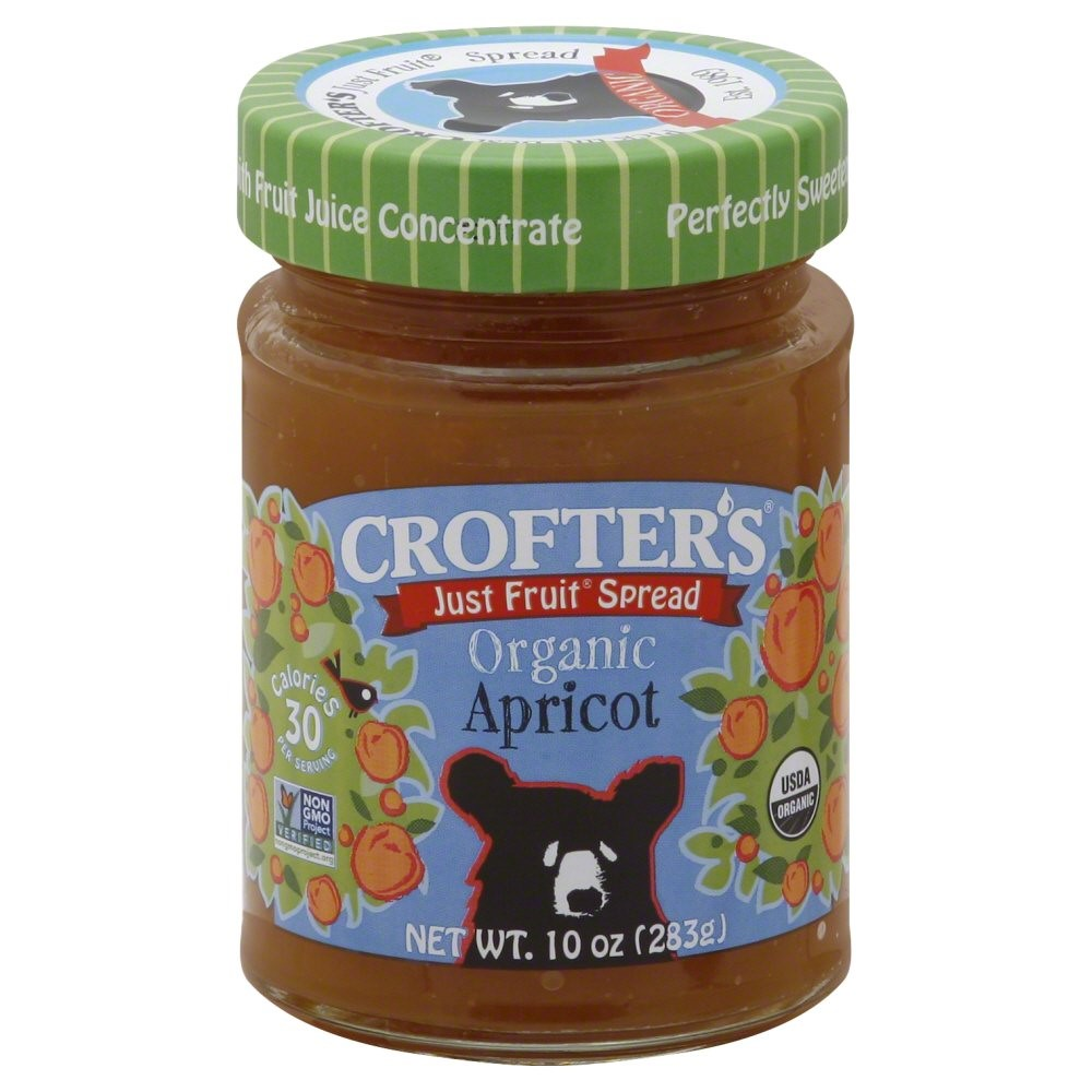 Crofters Organic Just Fruit Spread Apricot -- 10 Ounce