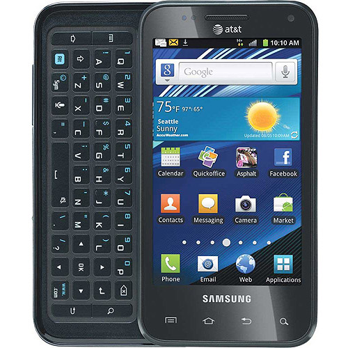 Samsung Captivate Glide I927 Android Cell Phone (Unlocked), Black