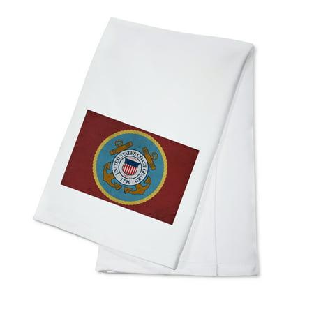 State Dish Towel - United States Coast Guard - Military - Insignia (100% Cotton Kitchen Towel)
