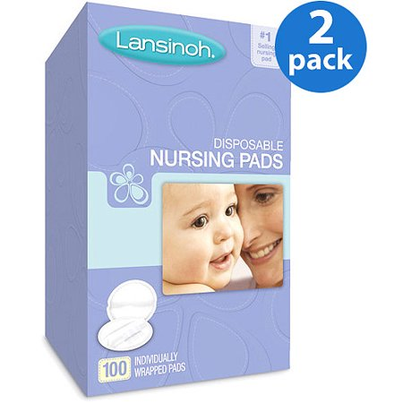 (2 Pack) Lansinoh Disposable Nursing Pads - 100 ct (Cotton Breast Pads)