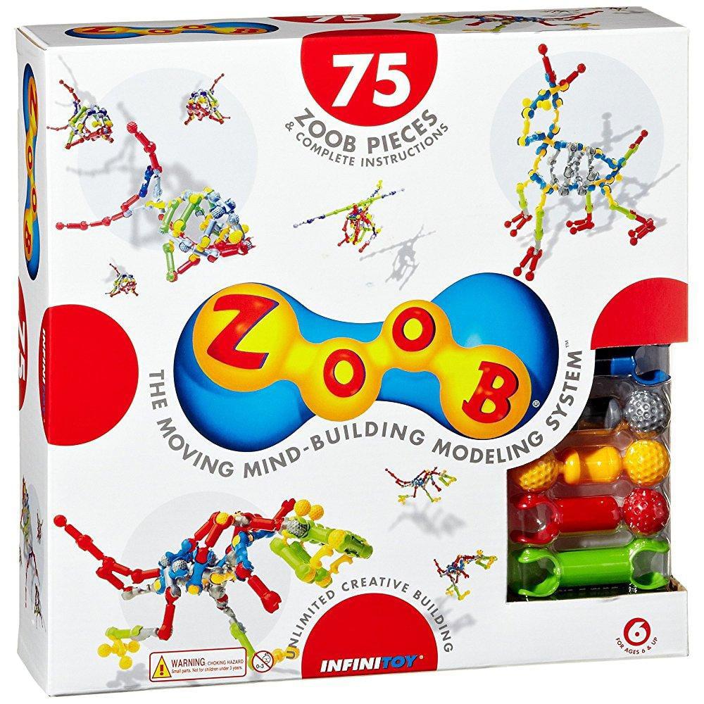 Zoob Building Blocks (75-Piece, Multi-Colour) by Zoob