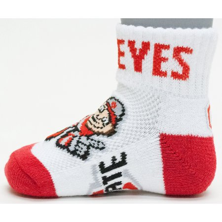 Ohio State Buckeyes Baby Quarter Sock - Ohio State Baby Clothes