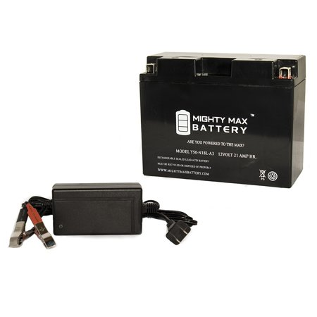 Y50-N18L-A3 Battery for Arctic Cat EXT Dlx EFI 1997 + 12V 4Amp (Ext Battery Charger)