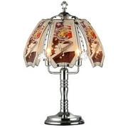"OK Lighting 23.5""H Marine Theme Touch Lamp, Silver Chrome"