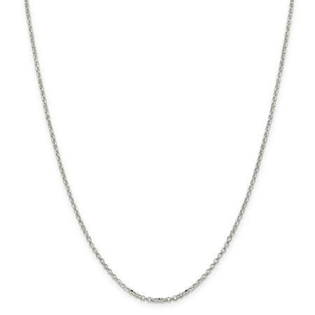 925 Sterling Silver 2mm 8 Side Diamond-cut Cable Chain 18 Inch - image 1 of 5