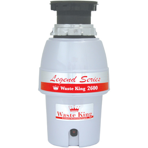 Waste King Food Waste Disposer, L-2600 1/2 HP, EZ-Mount