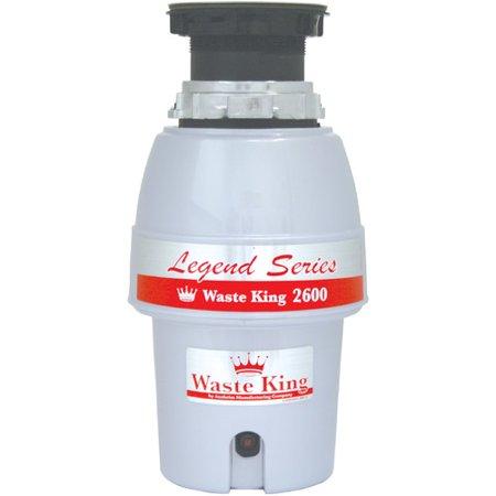 Standard Waste Disposer Flange - Waste King Food Waste Disposer, L-2600 1/2 HP, EZ-Mount