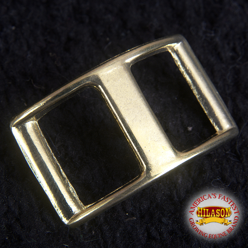 U-5/8'' HILASON WESTERN HORSE TACK CLEAN LAQUEER ON POLISHED BRASS CONWAY BUCKLE