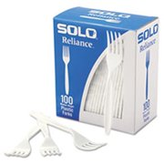 Solo Cups RSWFX Boxed Reliance Mediumweight Cutlery, Fork, White, 1000/Carton