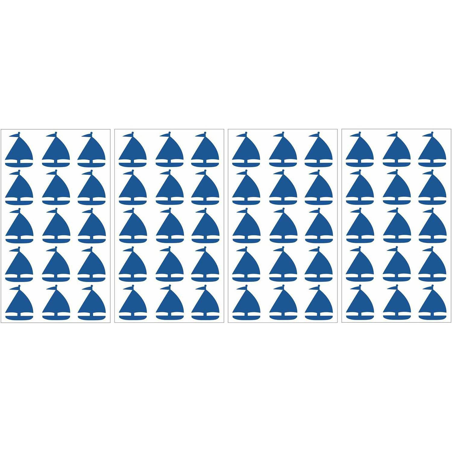WallPops Navy Sailboats MiniPops