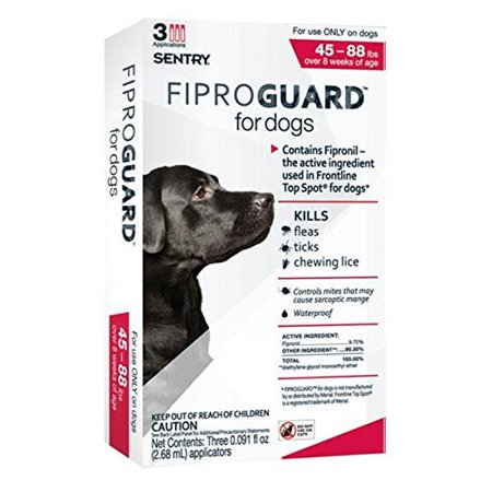 Sentry Fiproguard Topical Flea And Tick For Dogs  Kill Fleas  Ticks  Chewing Lice Ship From Us     By Sentry Industries Inc